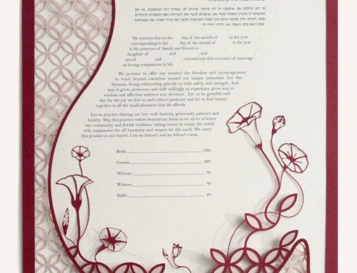 Dou­ble Wed­ding Ring Ke­tubah (Love By Leya)
